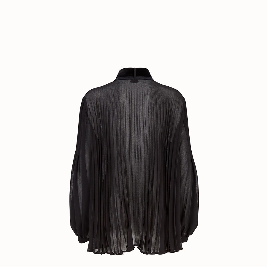FENDI BLOUSE - Black silk blouse - view 2 detail
