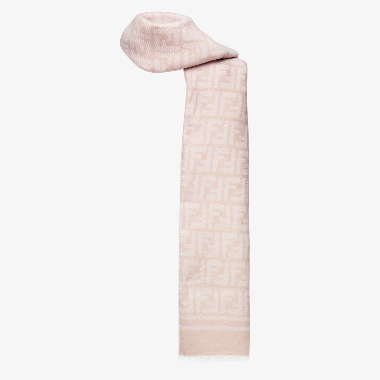 FENDI SCARF - Pink wool and silk scarf - view 2 detail
