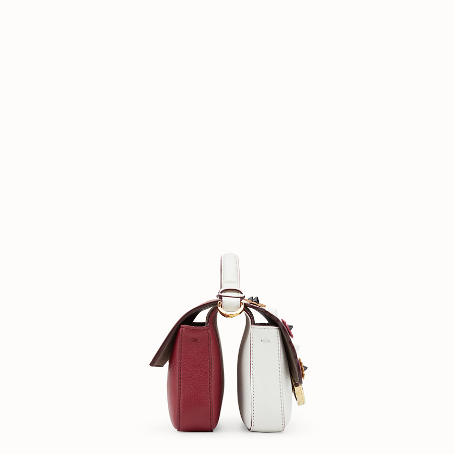 FENDI DOUBLE MICRO BAGUETTE - Multicolour leather mini-bag - view 2 detail