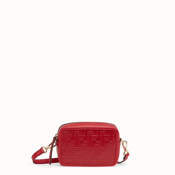 FENDI MINI CAMERA CASE - Tasche aus Leder in Rot - view 1 small thumbnail