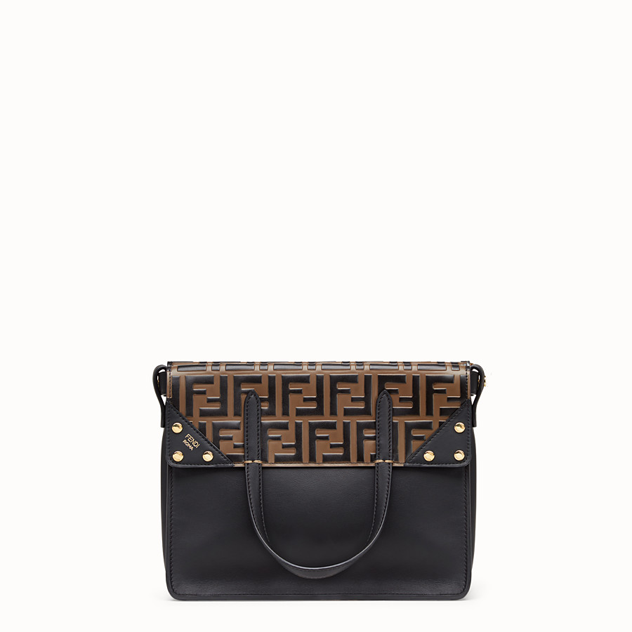 FENDI FENDI FLIP REGULAR - Black leather bag - view 1 detail