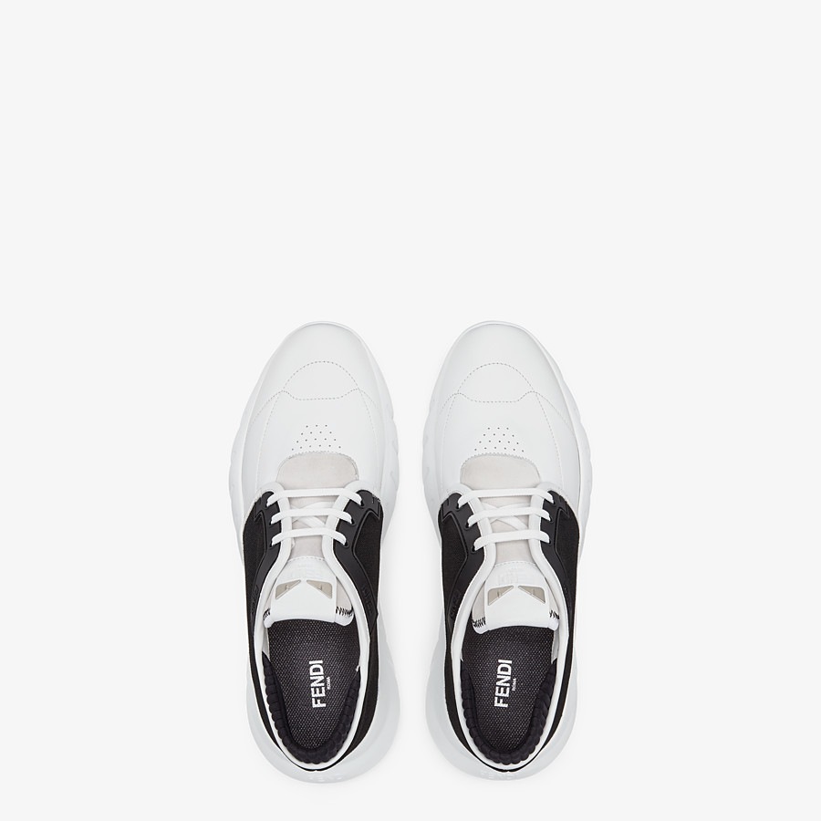 FENDI SNEAKERS - Multicolour leather and mesh low-tops - view 4 detail