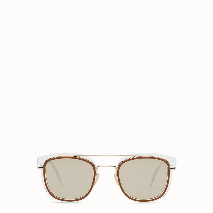 FENDI FENDI GLASS - Sonnenbrille in Transparent und Gold - view 1 detail