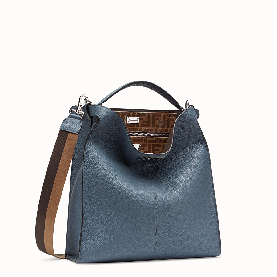 FENDI PEEKABOO X-LITE FIT - Blue Romano leather bag - view 3 detail