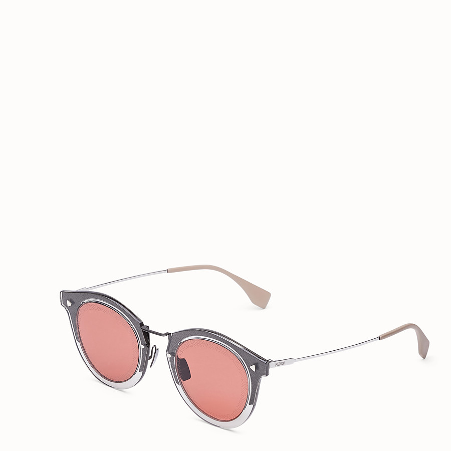 FENDI FF - Dark grey ruthenium sunglasses - view 2 detail