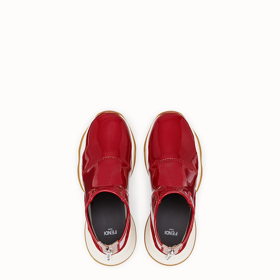 FENDI SNEAKERS - Sneakers aus Glossy-Neopren in Rot - view 4 detail
