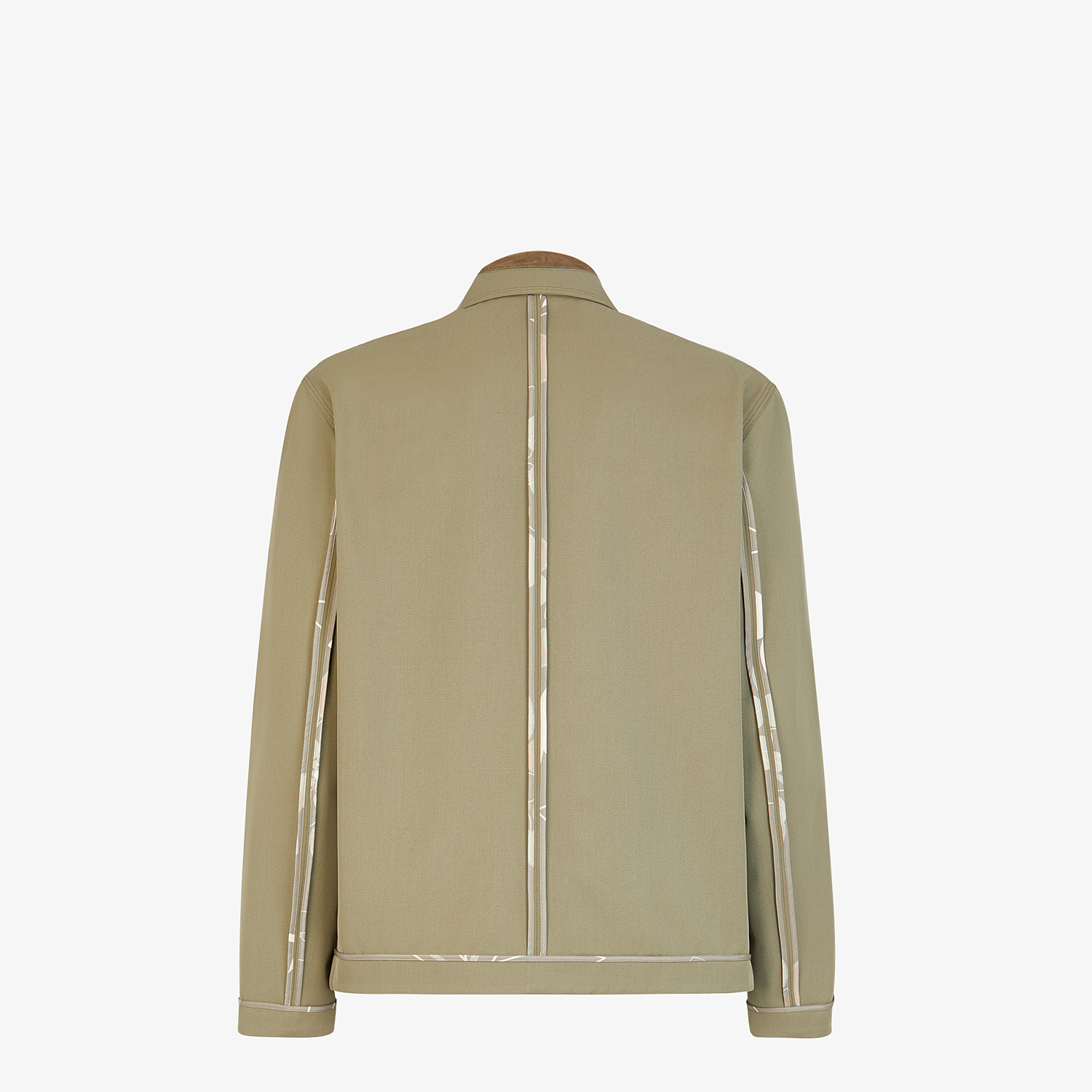 FENDI JACKET - Green twill blouson - view 2 detail