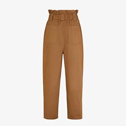 FENDI TROUSERS - Brown gabardine trousers - view 2 thumbnail