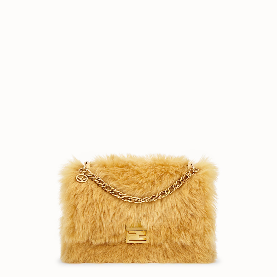 FENDI KAN U - Yellow sheepskin bag - view 1 detail