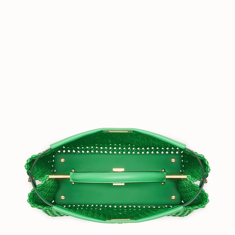 FENDI PEEKABOO ICONIC LARGE - Green leather interlace bag - view 5 detail
