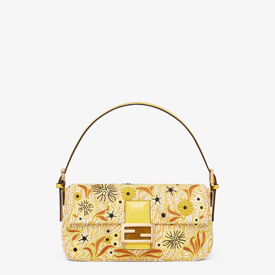 FENDI BAGUETTE 1997 - FF Vertigo jacquard bag with embroidery - view 1 detail