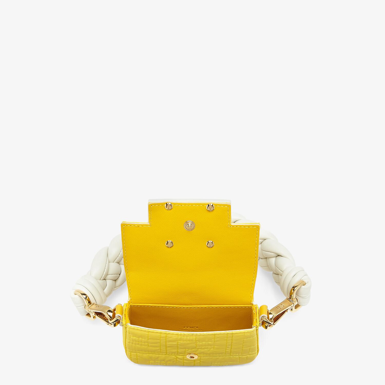 FENDI NANO BAGUETTE CHARM - Yellow nylon charm - view 4 detail