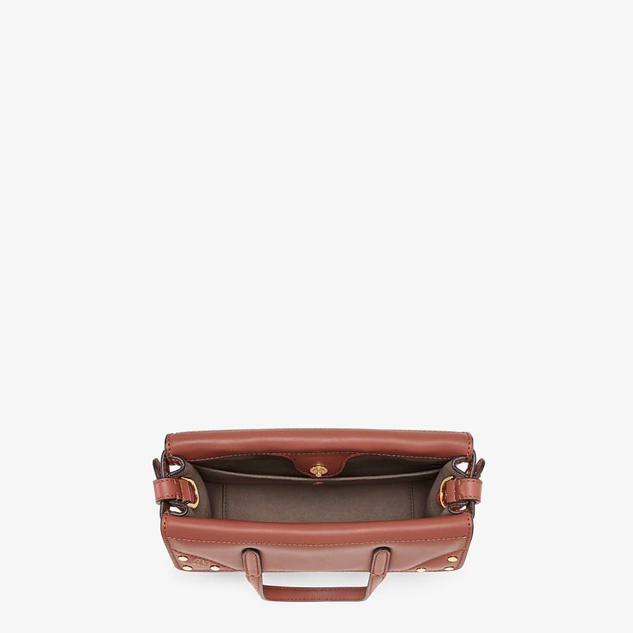 FENDI FENDI FLIP SMALL - Red leather mini-bag - view 5 detail