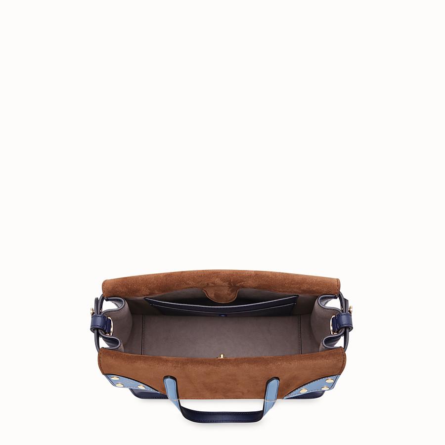 FENDI FENDI FLIP MEDIUM - Dark blue leather bag - view 5 detail