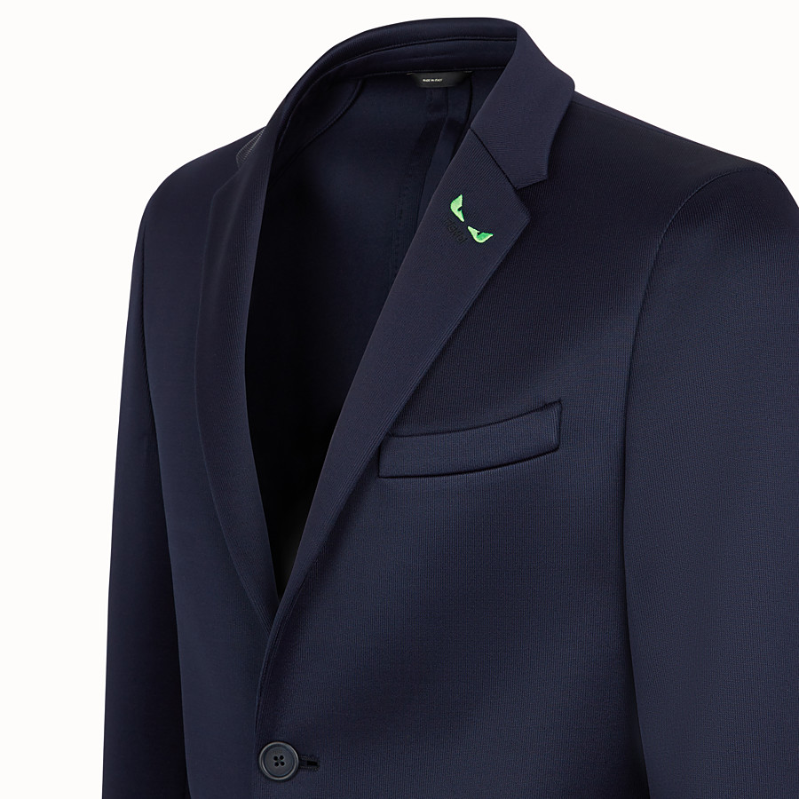 FENDI JACKET - Blue scuba blazer - view 3 detail