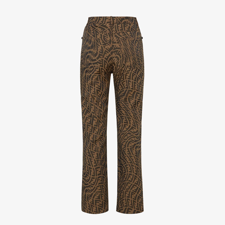 FENDI pants - Brown canvas pants - view 2 detail