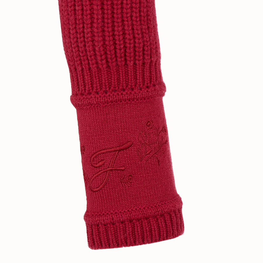 FENDI PULLOVER - Red cashmere jumper - view 3 detail