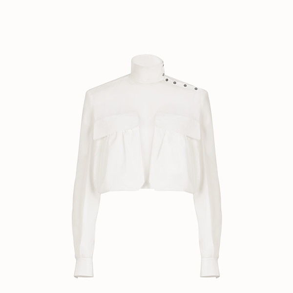 FENDI BLOUSE - White cotton blouse - view 1 small thumbnail