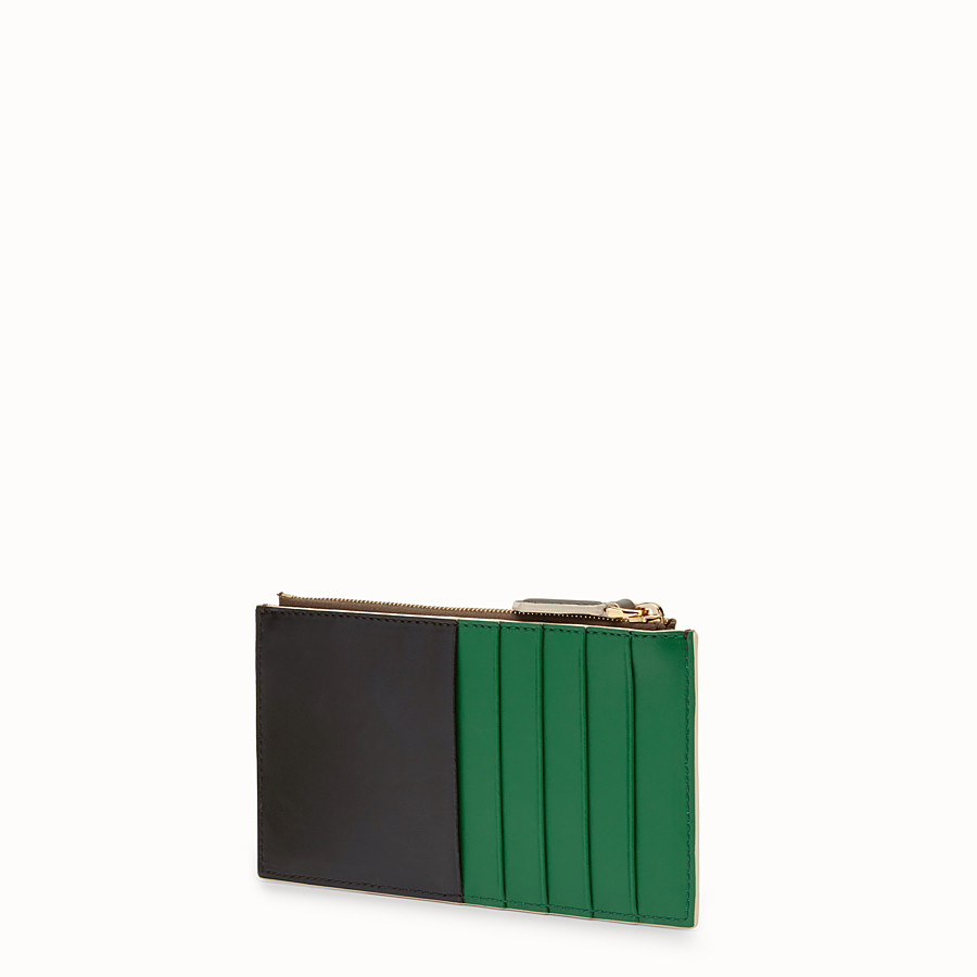 FENDI CARD POUCH - Flat three-tone calfskin pouch - view 2 detail