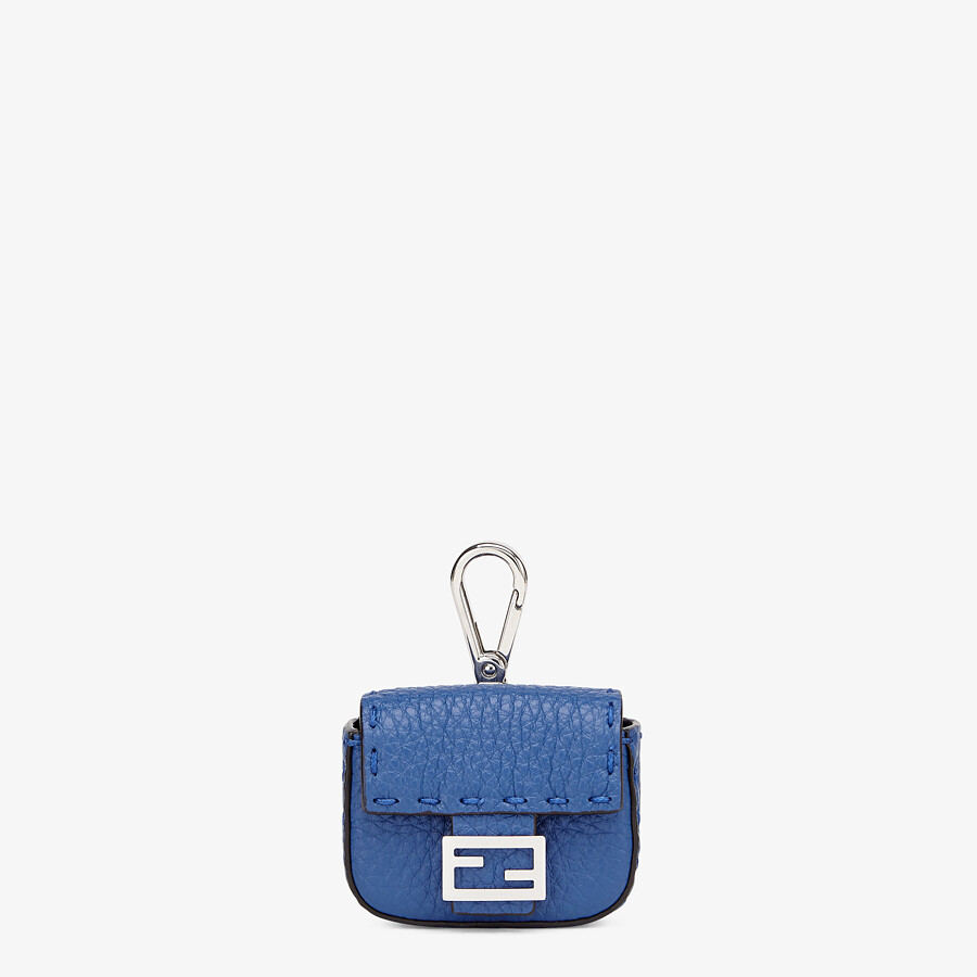 FENDI HEADPHONE HOLDER - Blue leather cover - view 1 detail