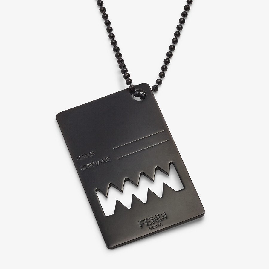FENDI NECKLACE - Ruthenium-colored necklace - view 2 detail