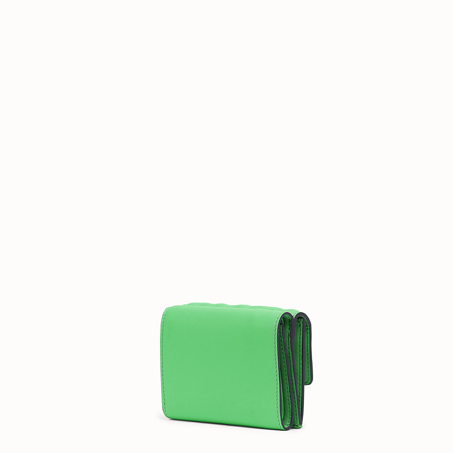 FENDI MICRO TRIFOLD - Green nappa leather wallet - view 2 detail