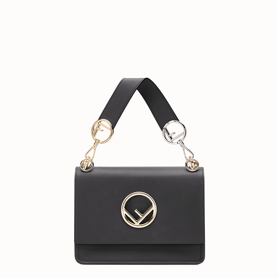 FENDI KAN I F - Black leather bag - view 1 detail