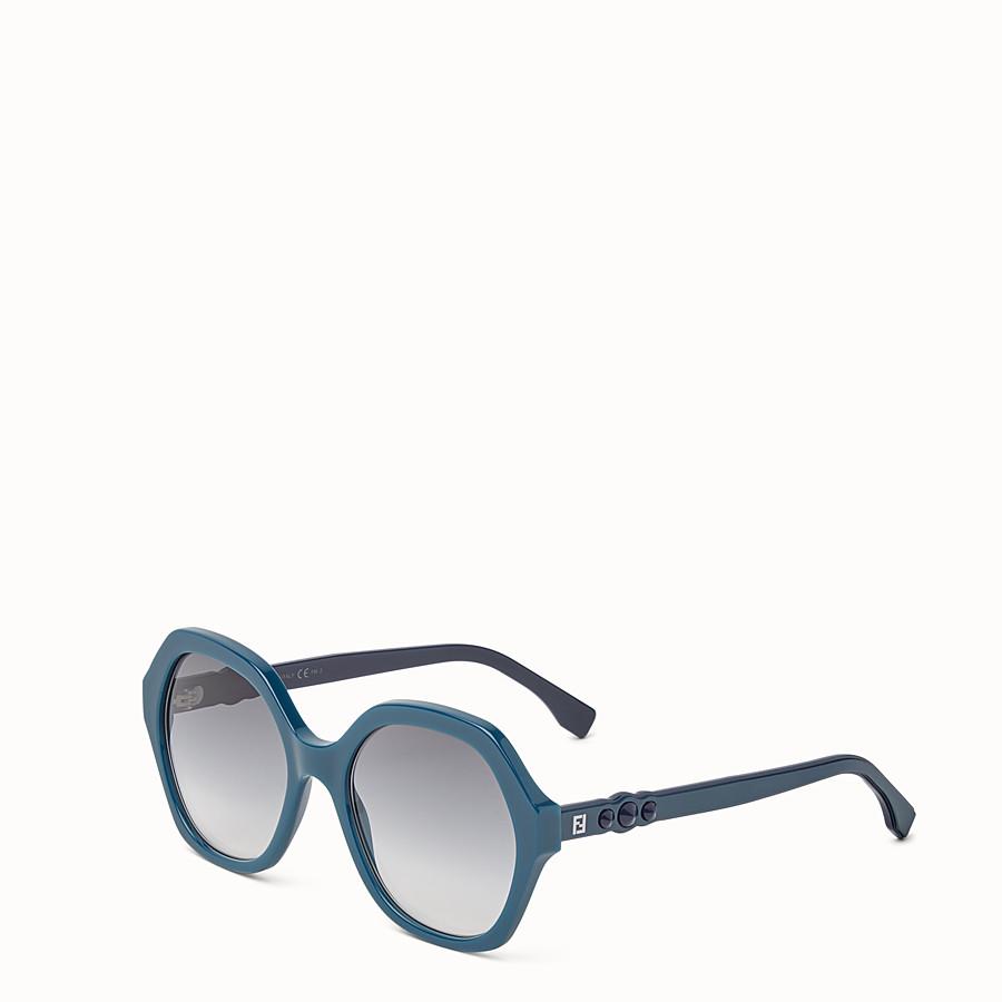 FENDI FUN FAIR - Green sunglasses - view 2 detail