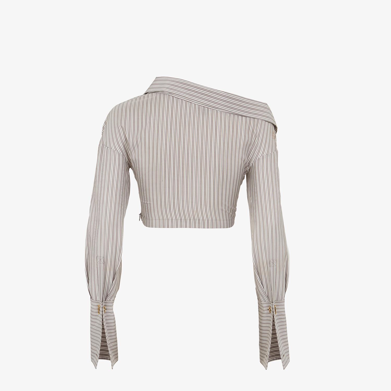 FENDI SHIRT - Printed silk shirt - view 2 detail