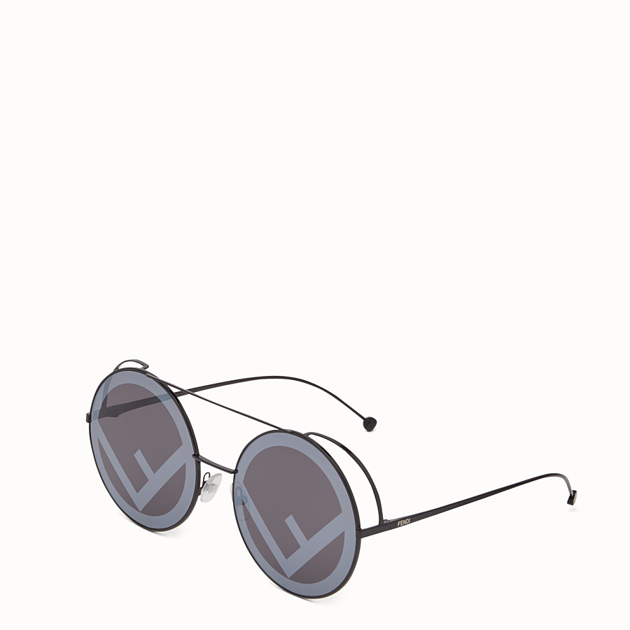 FENDI RUN AWAY - Black sunglasses - view 2 detail