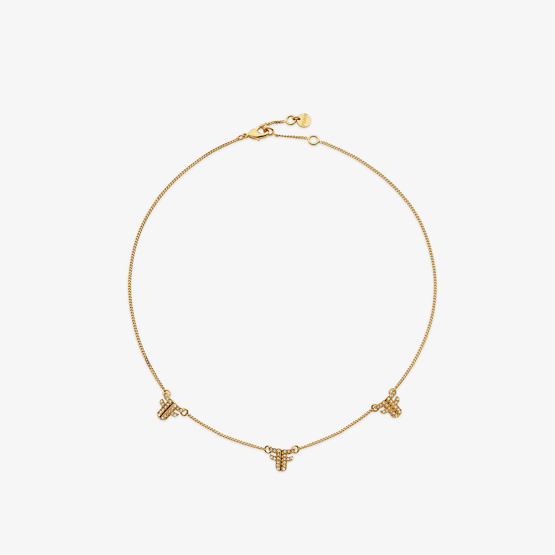 FENDI FFREEDOM NECKLACE - Gold-colour necklace - view 1 detail