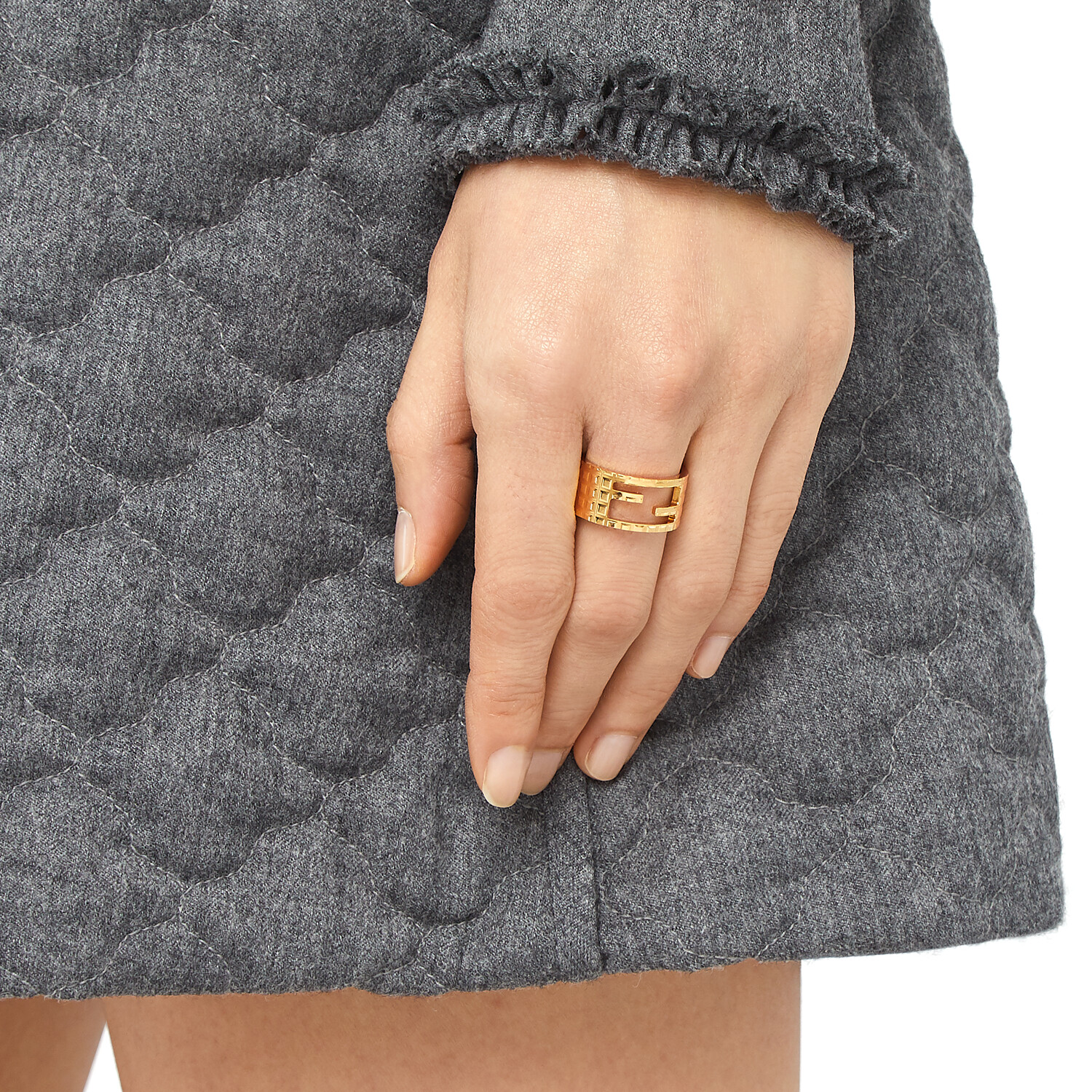 FENDI BAGUETTE RING - Gold-color ring - view 2 detail
