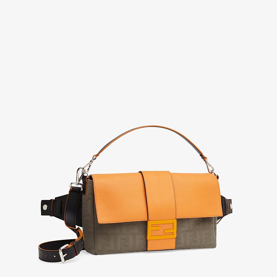 FENDI BAGUETTE LARGE - Brown canvas bag - view 2 detail