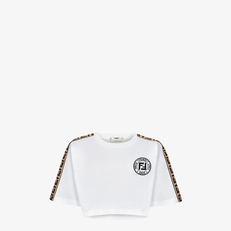 FENDI T-SHIRT - White jersey skirt - view 1 detail