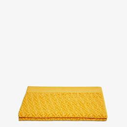 FENDI BEACH TOWEL - Yellow cotton beach towel - view 2 thumbnail