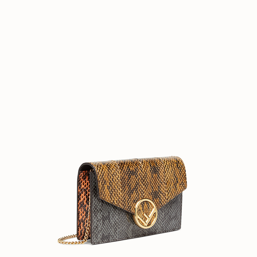 FENDI WALLET ON CHAIN - Multicolour elaphe mini-bag - view 2 detail