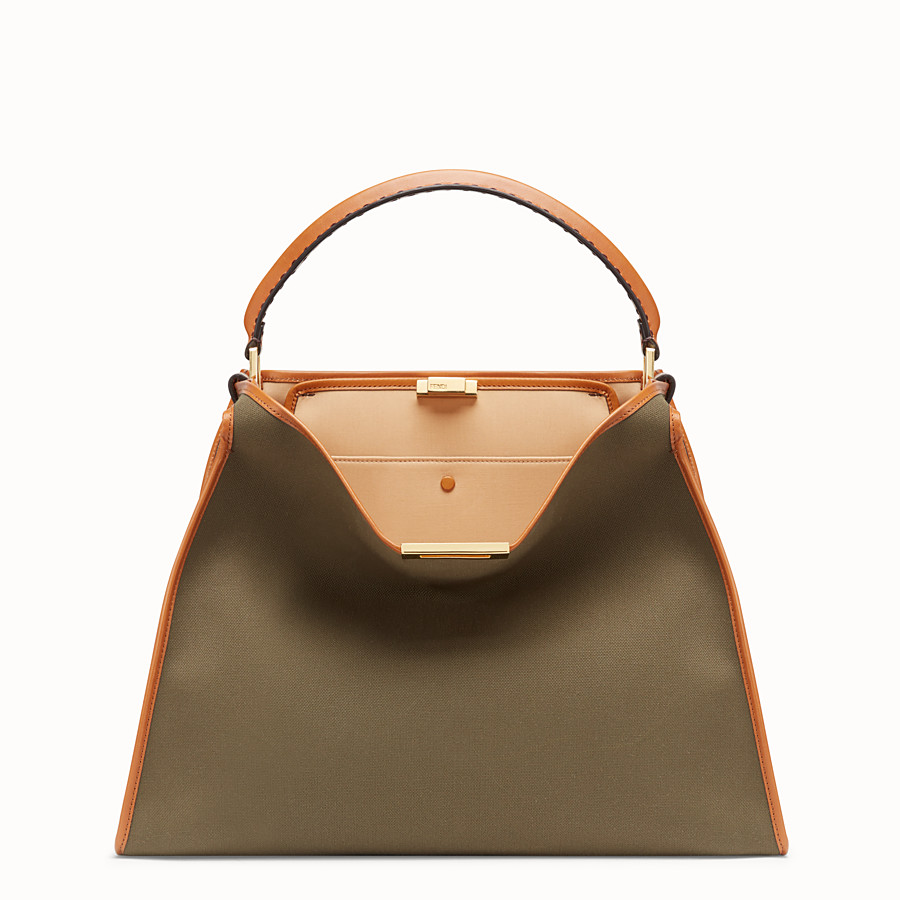 FENDI PEEKABOO X-LITE - Green canvas bag - view 2 detail