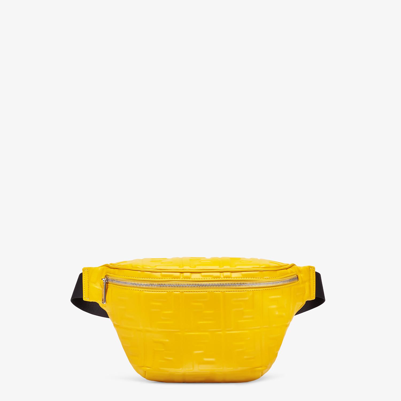FENDI BELT BAG - Yellow nappa leather belt bag - view 1 detail