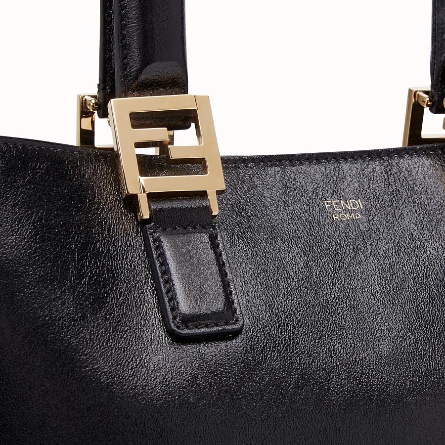 FENDI FF TOTE MEDIUM - Black leather bag - view 6 detail