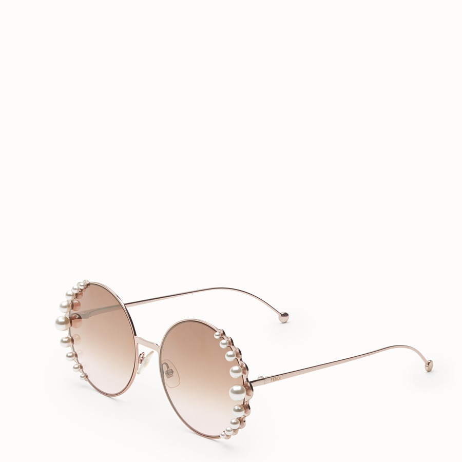 FENDI RIBBONS AND PEARLS - Metallic pink sunglasses - view 2 detail