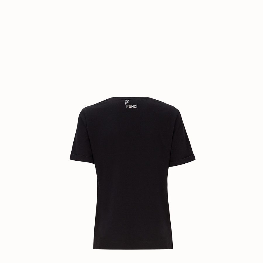 FENDI T-SHIRT - T-Shirt aus Baumwolle in Schwarz - view 2 detail