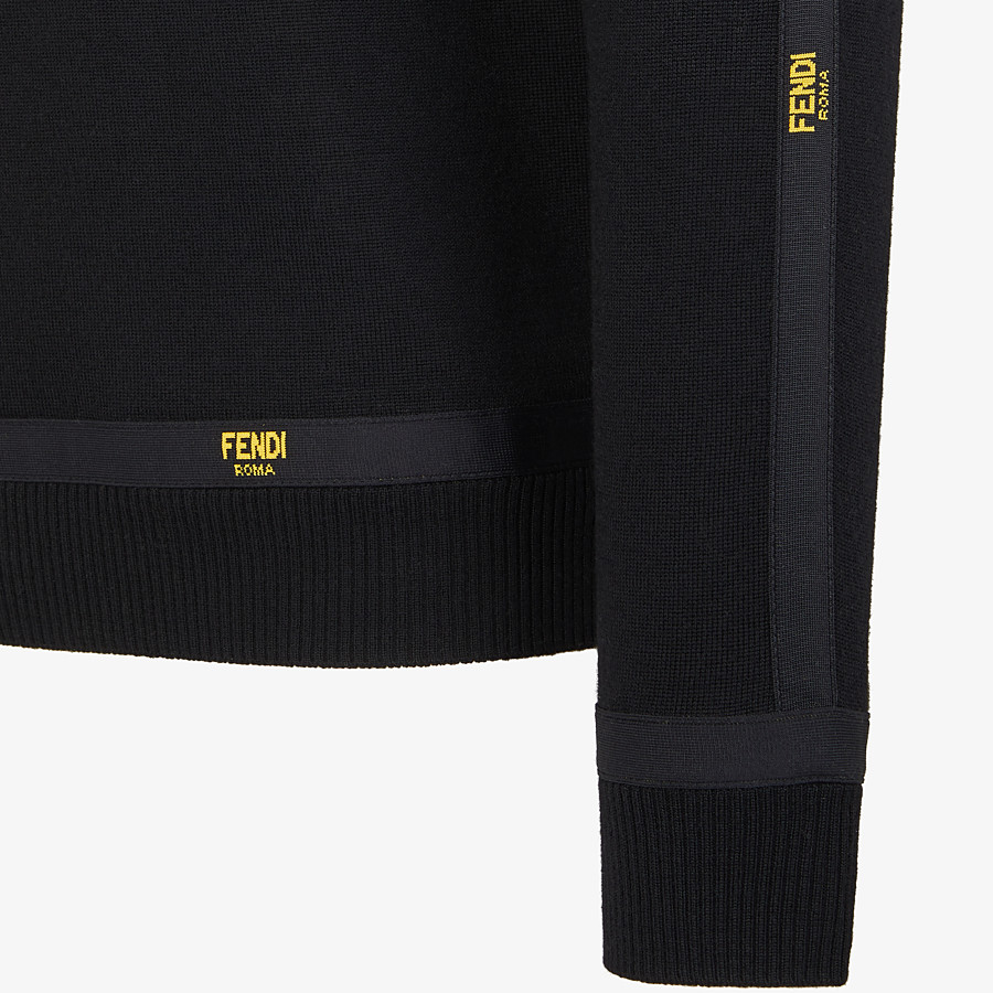 FENDI SWEATER - Black wool sweater - view 3 detail