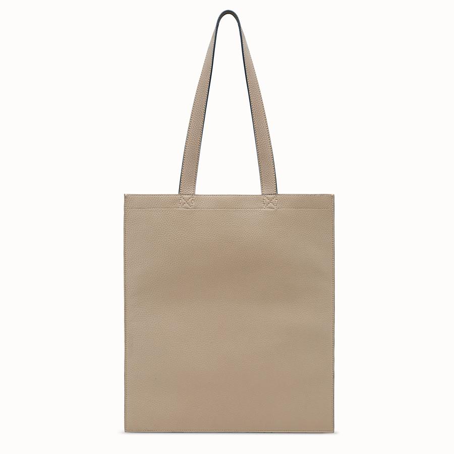 FENDI SHOPPER - Beige leather bag - view 3 detail