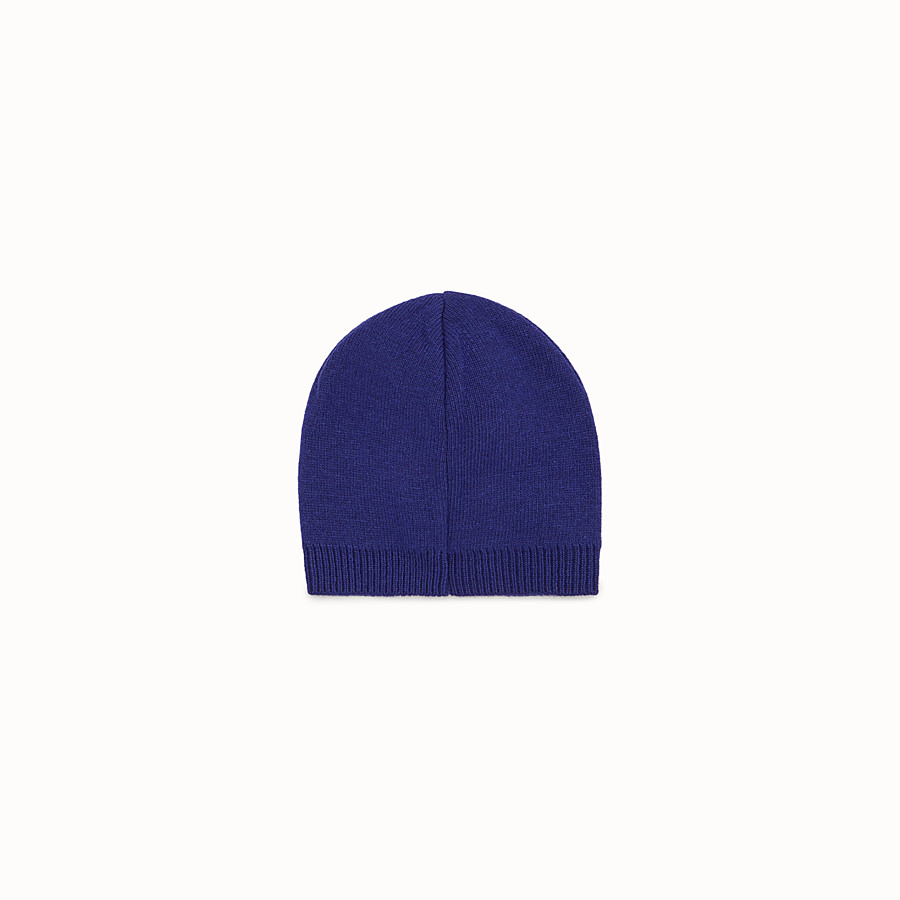 FENDI CAPPELLO - Cappello Baby Boy in lana blu - vista 2 dettaglio