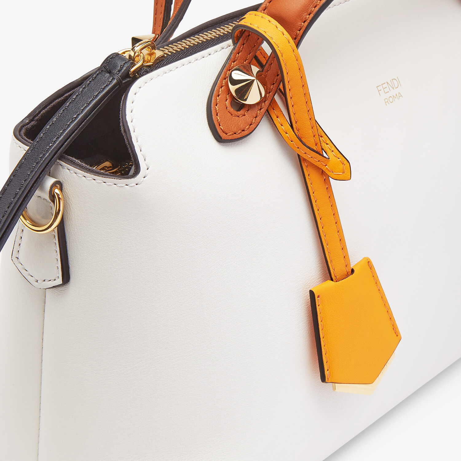 FENDI BY THE WAY MEDIUM - Multicolor leather Boston bag - view 6 detail