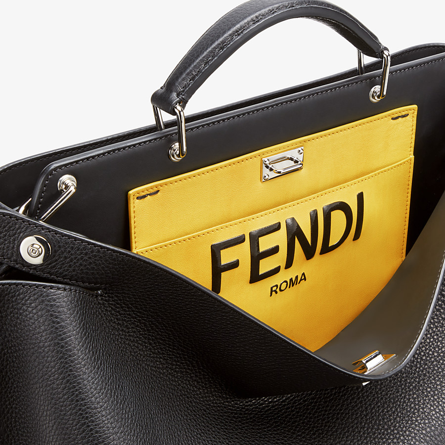 FENDI PEEKABOO ICONIC ESSENTIAL - Black leather bag - view 5 detail