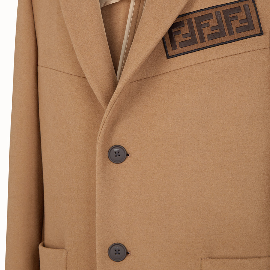 FENDI COAT - Beige wool coat - view 3 detail