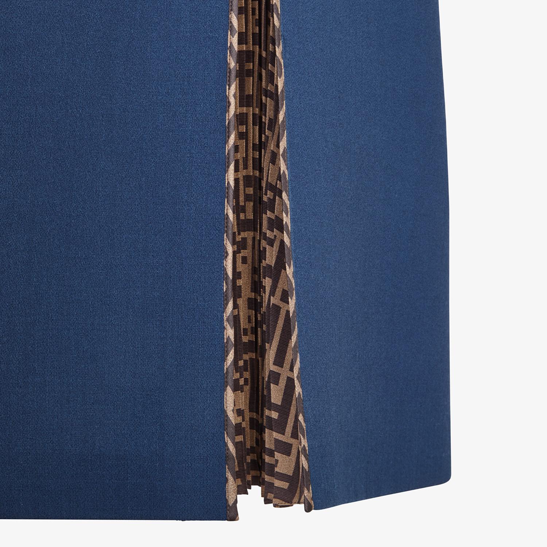 FENDI DRESS - Blue wool dress - view 3 detail