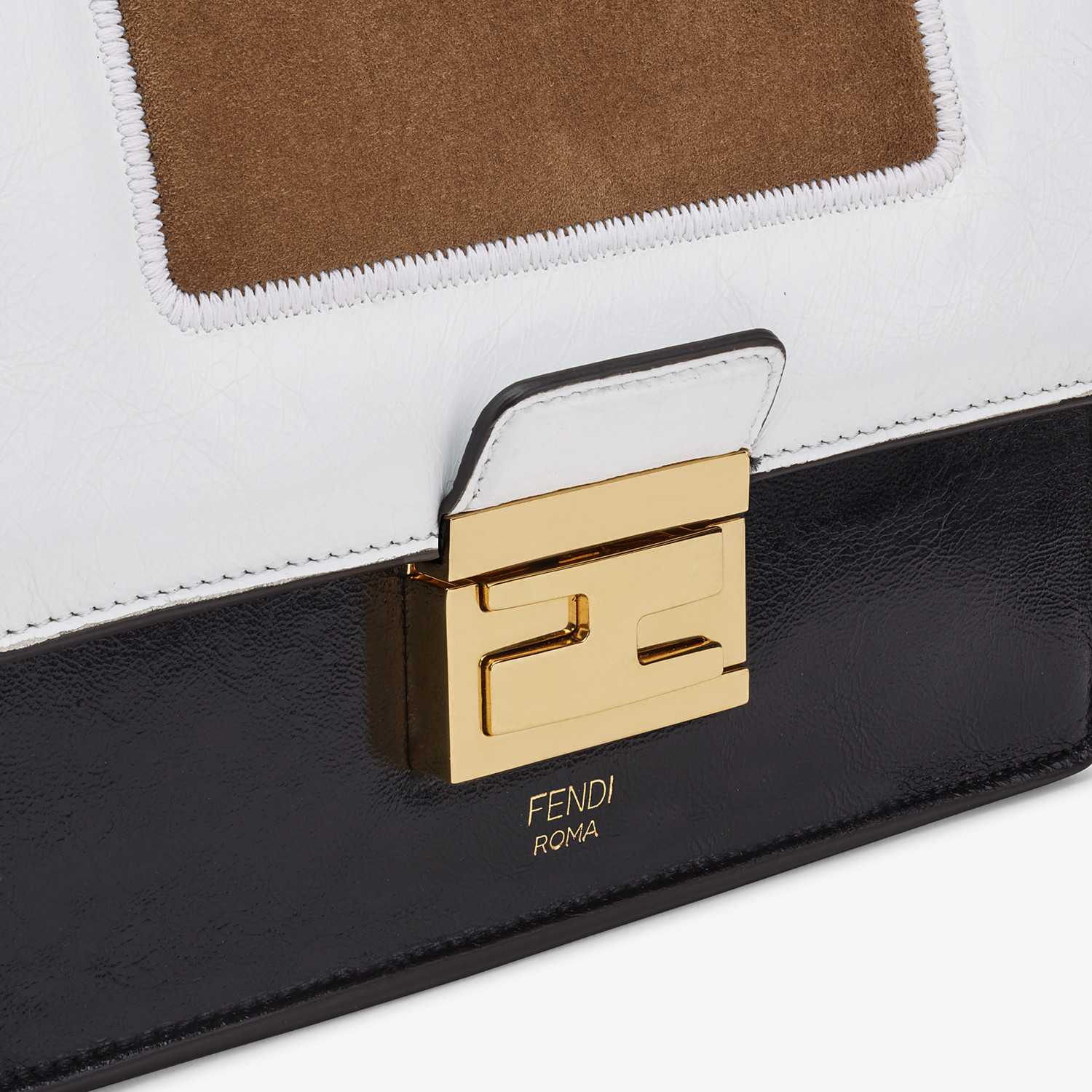 FENDI KAN U SMALL - Leather and suede minibag - view 6 detail