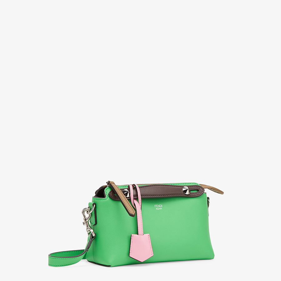 FENDI BY THE WAY MINI - Green leather small Boston bag - view 3 detail
